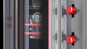 מערכת נעילה בדלתות הרמטיקס: בריחי T בנעילה תלת מימדית [פטנט רשום]