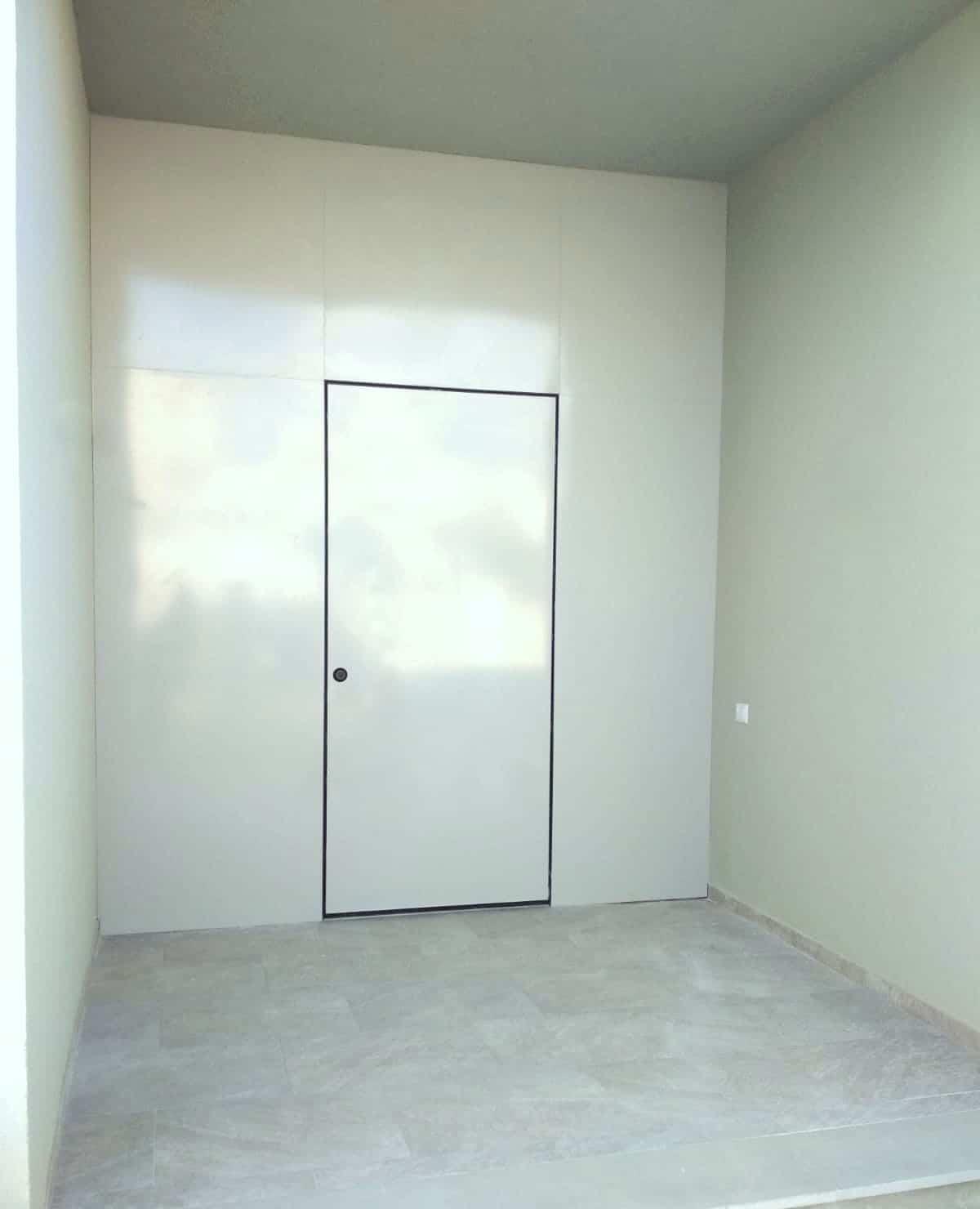 דלת כניסה עם משקוף נסתר
