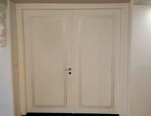 דלת פנים דו כנפית אקוסטית