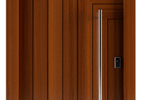 דלת כניסה מעץ במראה יווני