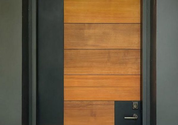 דלת חוץ מודרנית שלא הולכת רחוק מדי